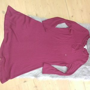 NEW🎀 [aeo] ribbed maroon / Burgundy LS dress